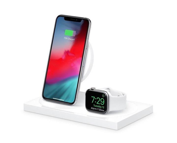 Док-станция Belkin BOOST↑UP F8J234vfWHT для беспроводной зарядки iPhone и Apple Watch White