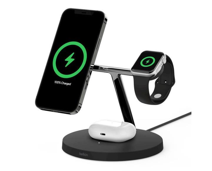Беспроводная зарядная станция Belkin BOOST CHARGE PRO 3-в-1 iPhone + Apple Watch + AirPods MagSafe Black