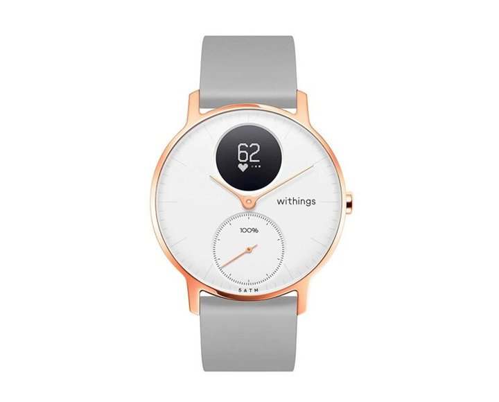 Умные часы Withings Steel HR 36 mm Limited Edition White & Rose Gold